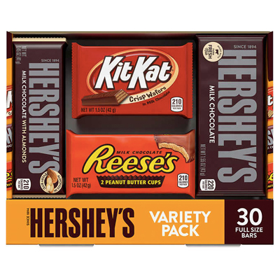 Chocolate Hershey's Variety Pack / 30-count (4mua VOT-MIXCH01A)