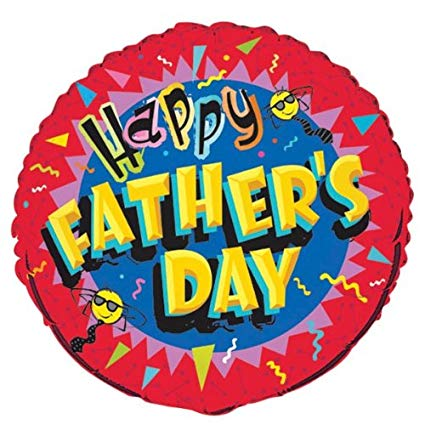 """HAPPY FATHER'S DAY"" mylar balloon 45cm x 45cm (4mua VOT-002FA)"